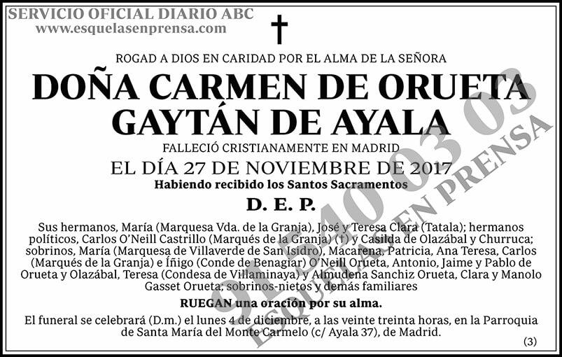 Carmen de Orueta Gaytán de Ayala